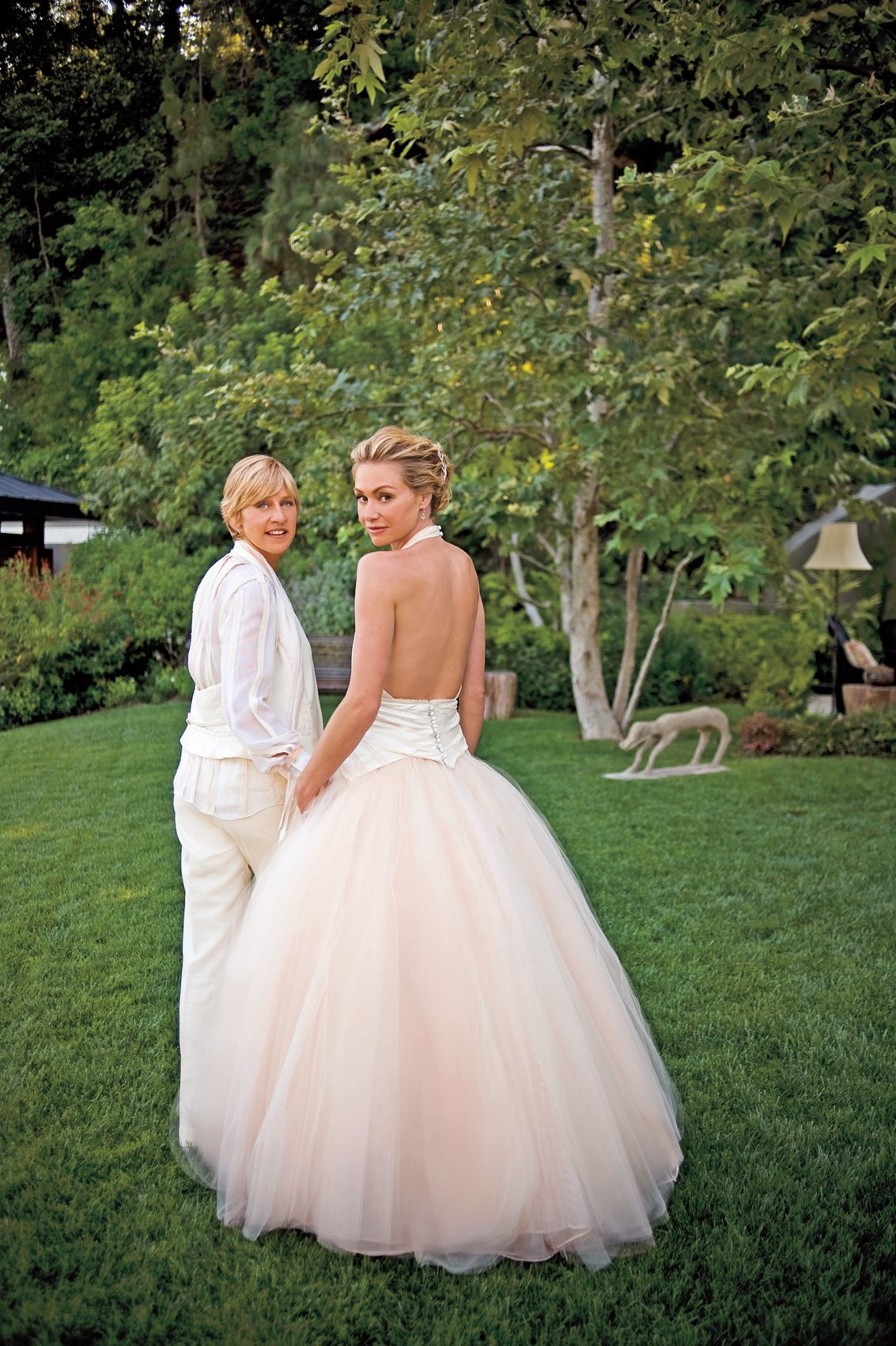 Ellen degeneres portia de rossi elisa my reviews and for Portia de rossi wedding dress