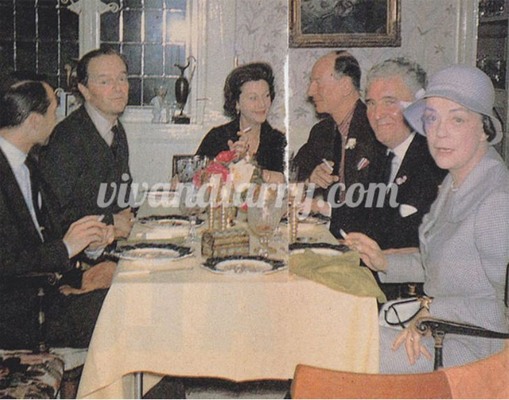 Seated From Lr Actor And Interior Designer Paul Anstee Sir Kenneth Clark  Vivien John Gielgud Journalist Alan Dent And Lady Jane Clark With Doug  Wilson ...